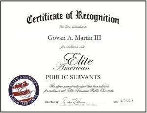 Govan A. Martin III